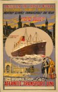 Vintage Travel poster - Atlantic Transport Line